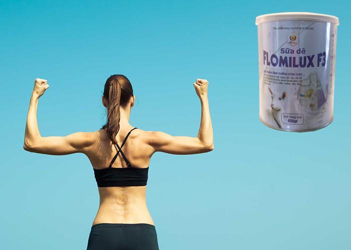 Uống Sữa Dê Flomilux Giúp Xương Chắc Khỏe