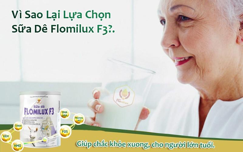 Vì Sao Lại Lựa Chọn Sữa Dê Flomilux F3