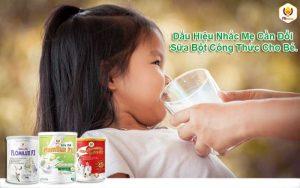 Dấu Hiệu Nhắc Mẹ Cần Đổi Sữa Bột Công Thức Cho Bé Ngay