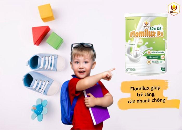 Flomilux Giúp Trẻ Tăng Cân Nhanh Chóng