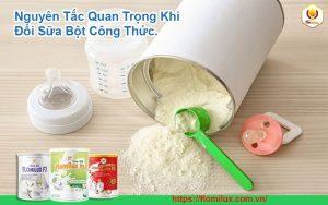 Nguyên Tắc Quan Trọng Khi Đổi Sữa Bột Công Thức Cho Bé